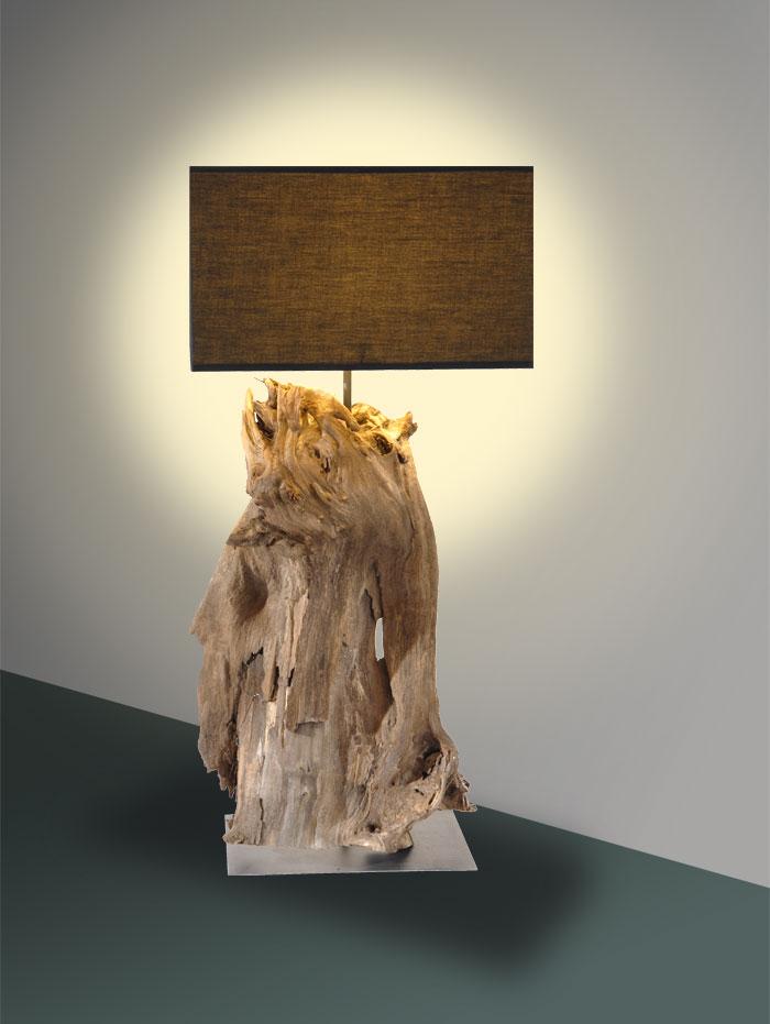 Lampe bois flott comment en fabriquer pictures to pin on for Fabriquer lampe bois flotte